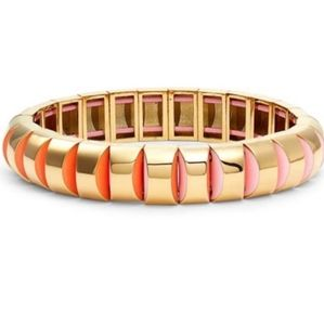 Kate Spade Sliced Scallops Stretch Bracelet. NWT